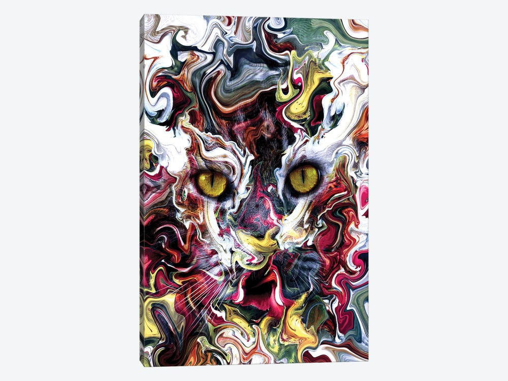Cat Abstract by Riza Peker 1-piece Canvas Art Print