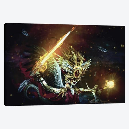 No Mercy Canvas Print #PEK156} by Riza Peker Canvas Wall Art