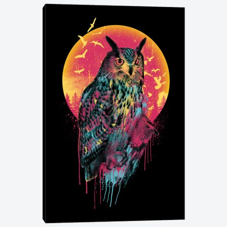 Owl VI 3-Piece Canvas #PEK158} by Riza Peker Canvas Print
