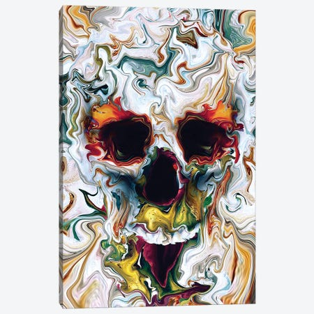 Skull Abstract Canvas Print #PEK161} by Riza Peker Canvas Artwork