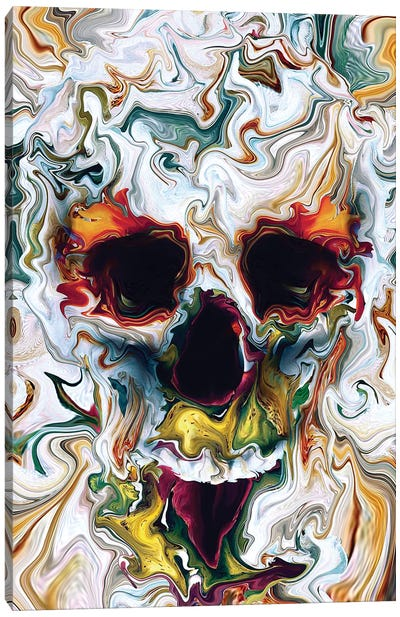 Skull Abstract Canvas Art Print