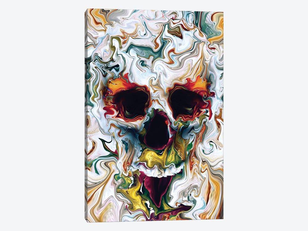 Skull Abstract by Riza Peker 1-piece Canvas Print