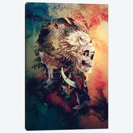 Skull Lord III Canvas Print #PEK162} by Riza Peker Canvas Artwork