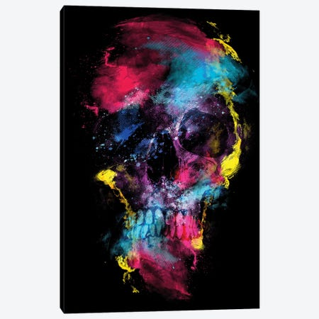 Skull Space Canvas Print #PEK165} by Riza Peker Art Print