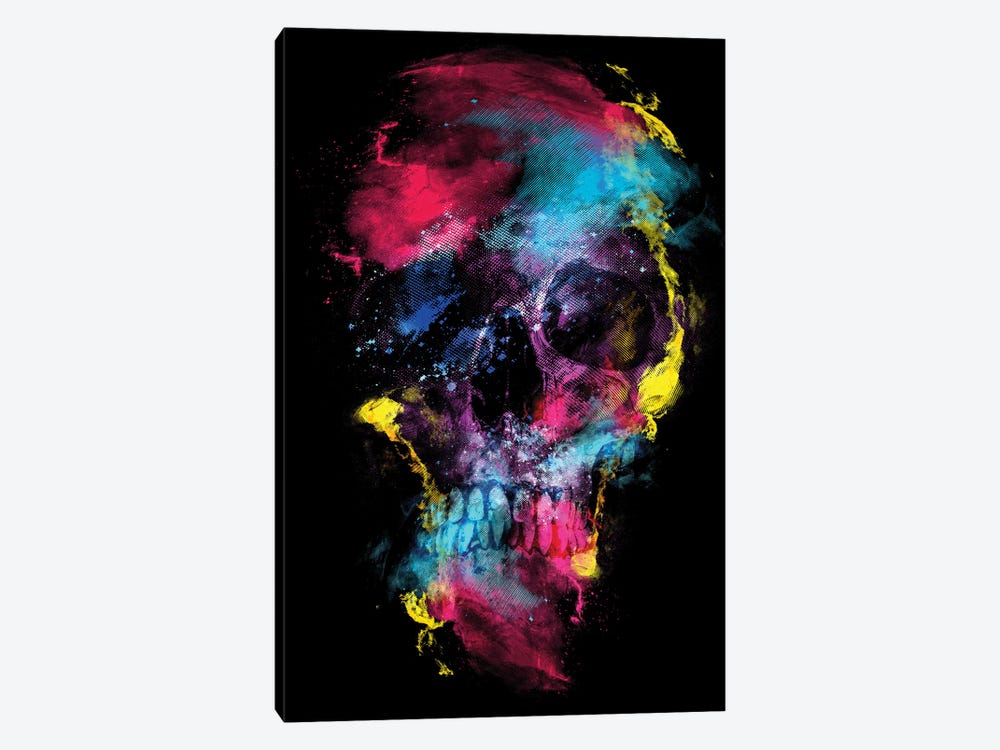 Skull Space by Riza Peker 1-piece Canvas Art Print
