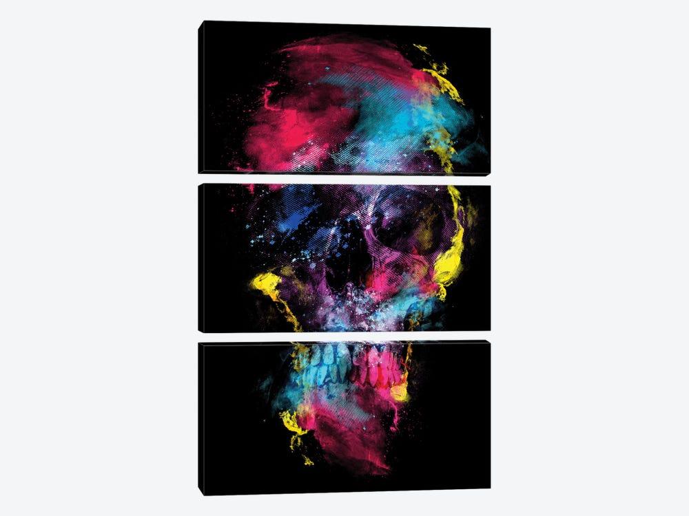 Skull Space by Riza Peker 3-piece Art Print