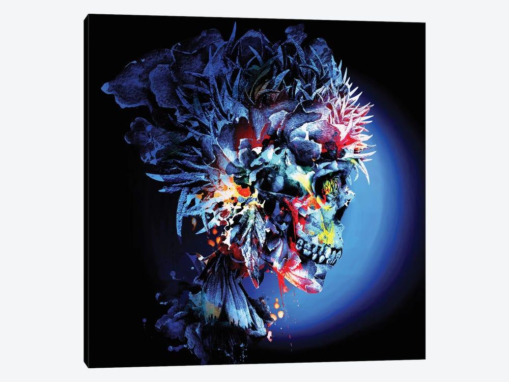 Skull Vivid by Riza Peker 1-piece Canvas Print