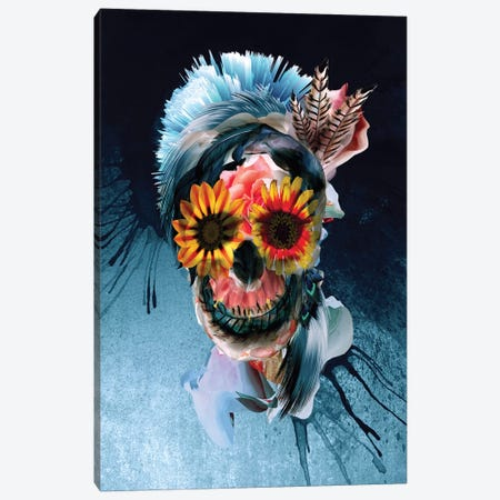 Skull Woman Canvas Print #PEK169} by Riza Peker Canvas Art