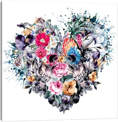 Floral Skull Series: Love Forever Canvas Print #PEK16