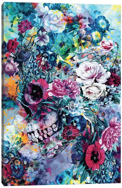 Surreal Skull Canvas Art Print