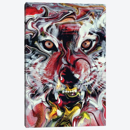 Tiger Abstract Canvas Print #PEK176} by Riza Peker Canvas Art