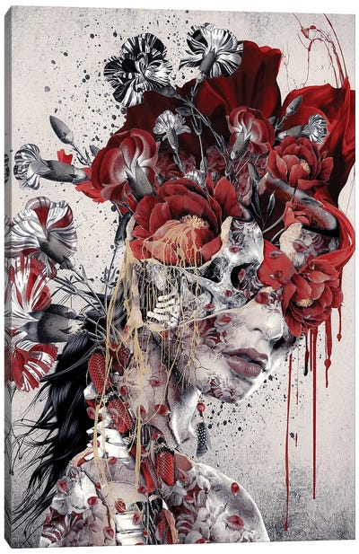 Queen Of Skull Canvas Art Print