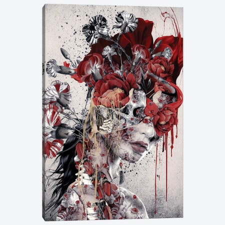 Queen Of Skull Canvas Print #PEK183} by Riza Peker Canvas Wall Art
