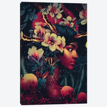 Poisonous Beauty Canvas Print #PEK189} by Riza Peker Canvas Art