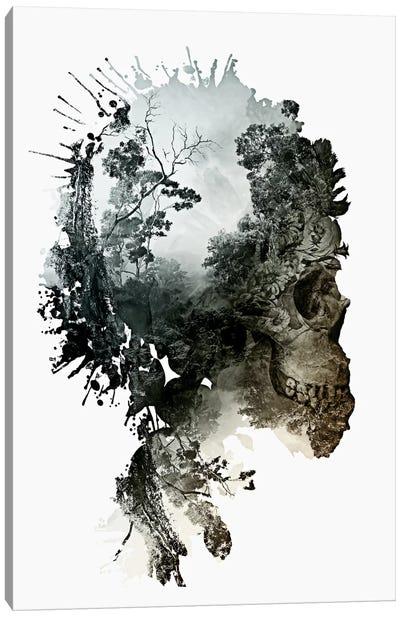 Floral Skull Series: Metamorphosis Canvas Print #PEK18