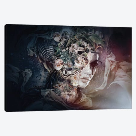 Light In The Dark Canvas Print #PEK191} by Riza Peker Art Print