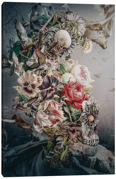 Skull In Moonlight Canvas Art Print