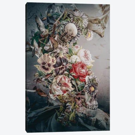 Skull In Moonlight Canvas Print #PEK198} by Riza Peker Art Print