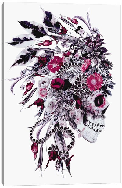 Floral Skull Series: Momento Mori Chief Canvas Print #PEK19