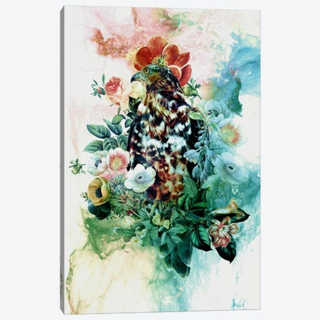 Bird In Flowers Canvas Print #PEK1} by Riza Peker Canvas Artwork