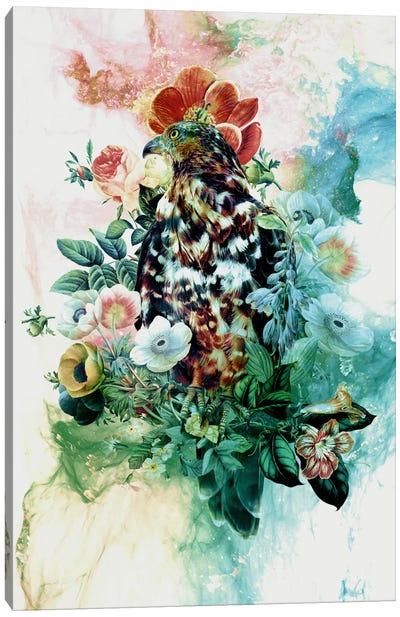 Bird In Flowers Canvas Print #PEK1