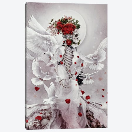Skeleton Bride Ii Canvas Print #PEK200} by Riza Peker Canvas Print