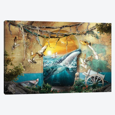 Whale Canvas Print #PEK202} by Riza Peker Canvas Print