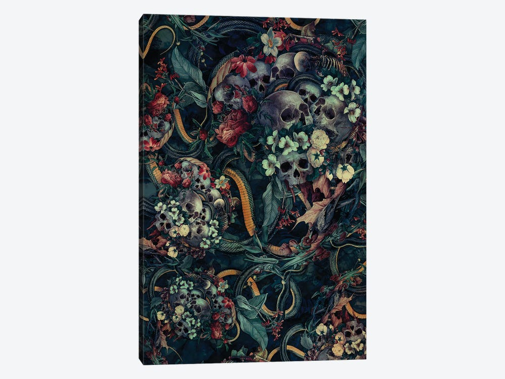 Skulls And Snakes by Riza Peker 1-piece Canvas Wall Art