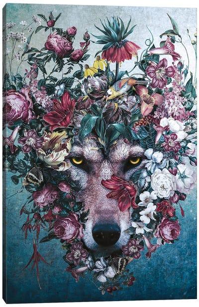 Flower Wolf II Canvas Art Print