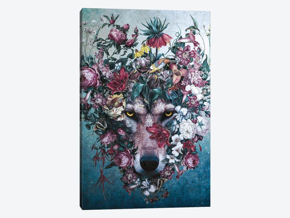 Flower Wolf II by Riza Peker 1-piece Canvas Art