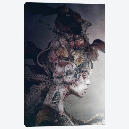 Broken Queen Canvas Print #PEK216} by Riza Peker Canvas Print