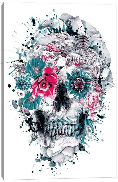 Floral Skull Series: Momento Mori IX Canvas Print #PEK21