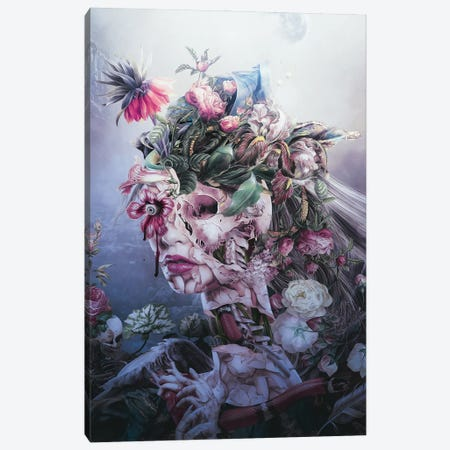 Skull Queen Canvas Print #PEK222} by Riza Peker Canvas Art Print