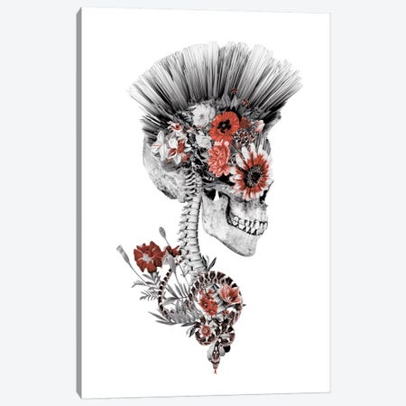 Momento Mori Punk II Canvas Print #PEK22} by Riza Peker Canvas Wall Art
