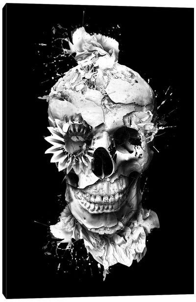 Floral Skull Series: Skeleton Canvas Print #PEK32