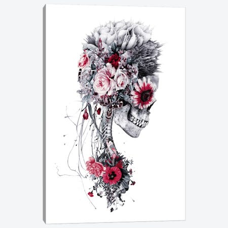 Skeleton Bride Canvas Print #PEK33} by Riza Peker Art Print