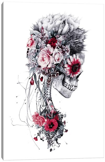 Skeleton Bride Canvas Art Print