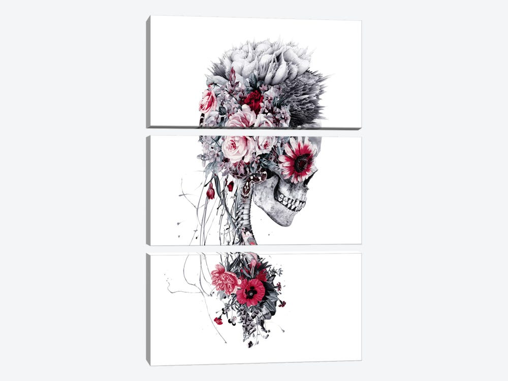 Skeleton Bride by Riza Peker 3-piece Art Print
