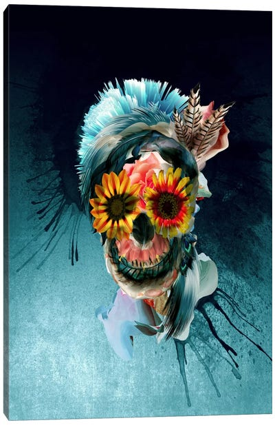 Floral Skull Series: Women Canvas Print #PEK42