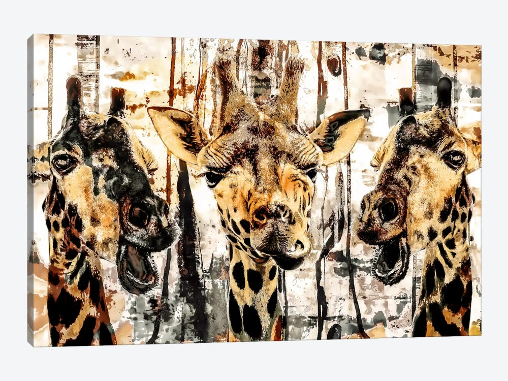 Giraffes by Riza Peker 1-piece Canvas Wall Art