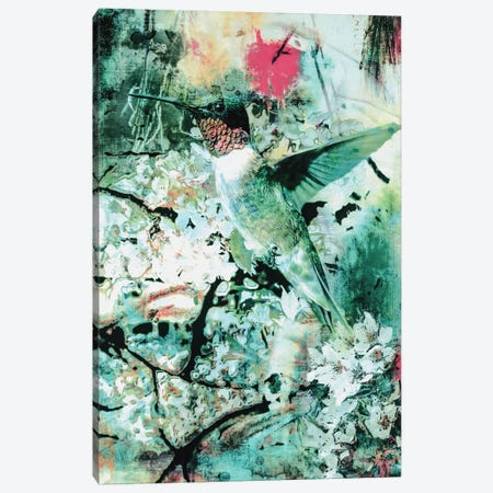 Hummingbird 3-Piece Canvas #PEK46} by Riza Peker Canvas Print