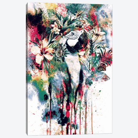 Parrot Canvas Print #PEK47} by Riza Peker Canvas Print