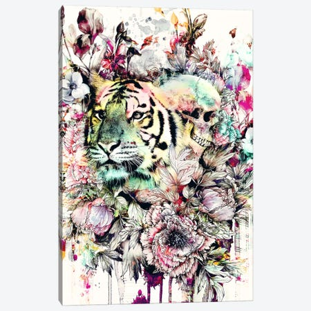 Tiger VI Canvas Print #PEK48} by Riza Peker Canvas Artwork
