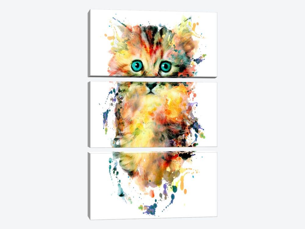 Kitten by Riza Peker 3-piece Canvas Artwork