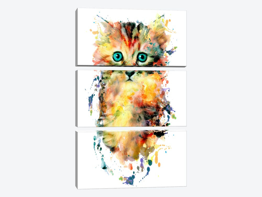 Kitten by Riza Peker 3-piece Canvas Artwork