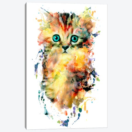 Kitten Canvas Print #PEK49} by Riza Peker Canvas Artwork