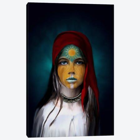 Chalchiuhtlicue Canvas Print #PEK4} by Riza Peker Canvas Art Print