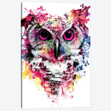 Owl I Canvas Print #PEK53} by Riza Peker Art Print