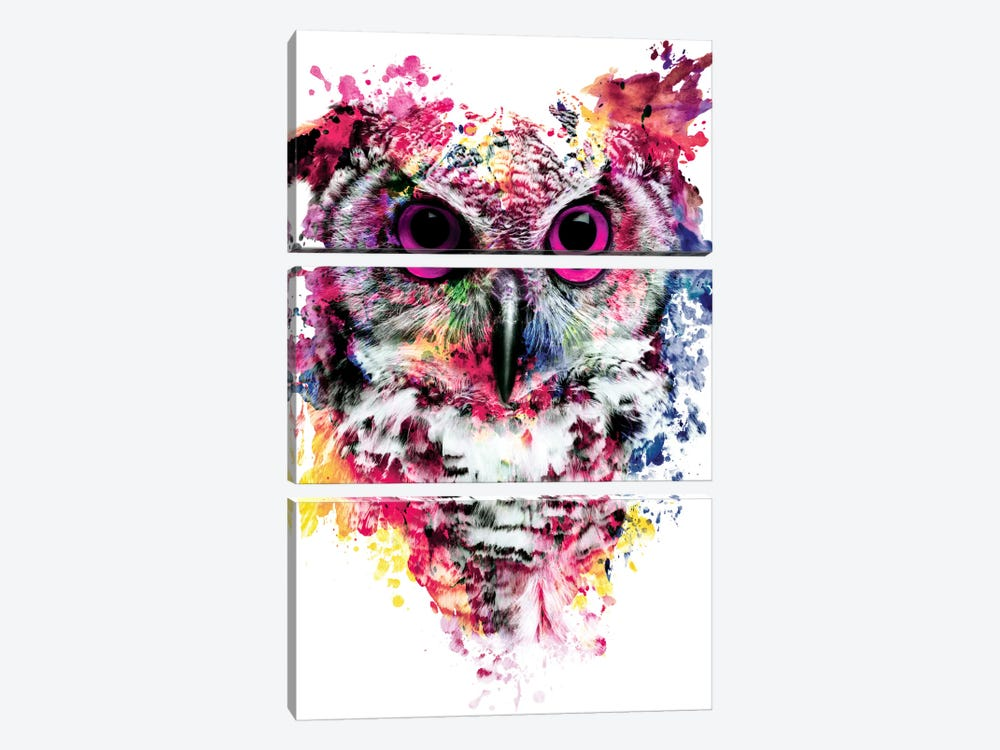 Owl I by Riza Peker 3-piece Canvas Print