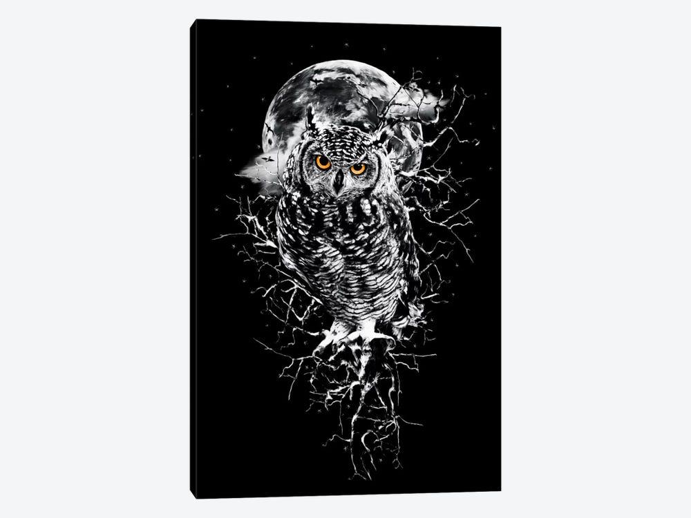 Owl In B&W by Riza Peker 1-piece Art Print